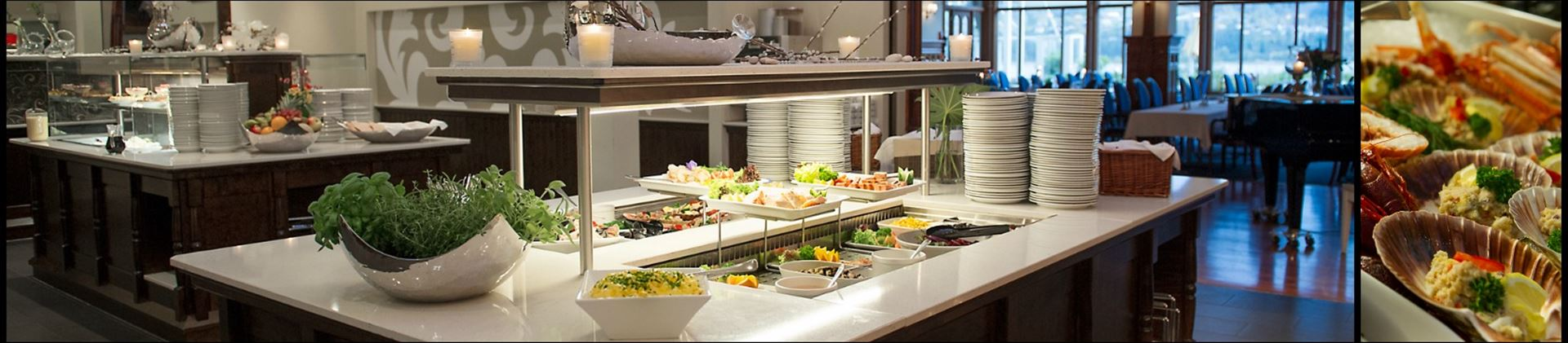 Buffet i restauranten